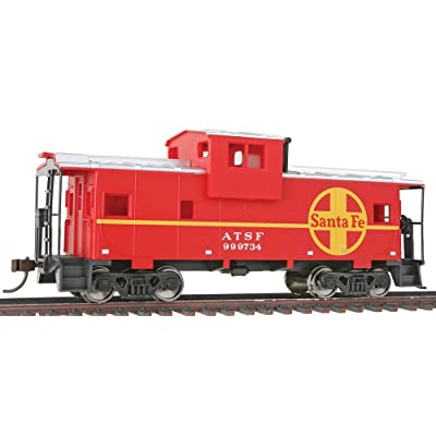 Walthers Trainline HO Scale Model Atchison, Topeka & Santa Fe Vision Caboose, Model:931-1503: Toys & Games