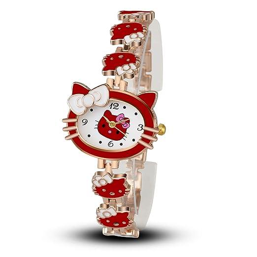 SJXIN Reloj Elegante Moda Dibujos Animados Gatito Gato Reloj Pulsera Reloj Estudiante Reloj Femenino Relojes de Moda (Color : 2): Amazon.es: Relojes