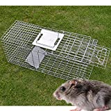 BenefitUSA Animal Trap for Possum Cat Rabbit Woodchucks Hare Mouse Cage 25.6''x9.5''x11'' Foldable
