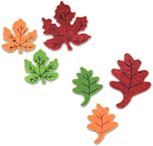 Harvest Mini Seasonal Holiday Felt Shapes - Leaf Shape Cut-Outs for Arts and Crafts or Party Supply Decorations - 40 Piece Set