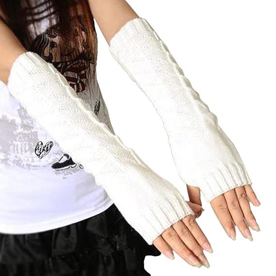 TOPmountain Gants d hiver Tricot de câble Mitaines chauffantes Gants sans  doigts pour femme  Amazon.fr  Vêtements et accessoires 6d1466c44d8a