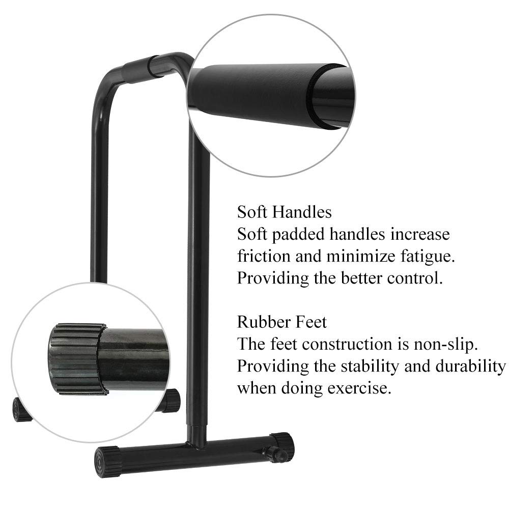 RELIFE REBUILD YOUR LIFE Dip Station Functional Heavy Duty Dip Stands Fitness Workout Dip bar Station Stabilizer Parallette Push Up Stand (Black) by RELIFE REBUILD YOUR LIFE (Image #5)