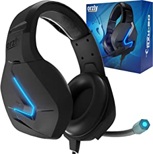 Orzly Gaming Headset for PC and Gaming Consoles PS5, PS4, Xbox Series X   S, Xbox ONE, Nintendo Switch & Google Stadia Stereo Sound Headphones with Noise Cancelling mic - Hornet RXH-20 Abyss Edition