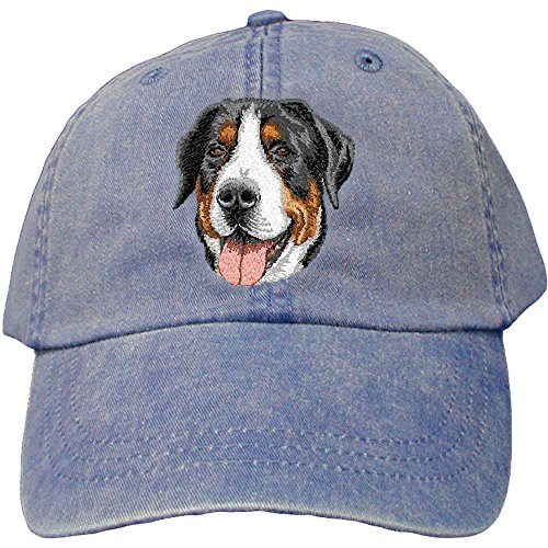 Cherrybrook Dog Breed Embroidered Adams Cotton Twill Caps - Royal Blue - Greater Swiss Mountain Dog