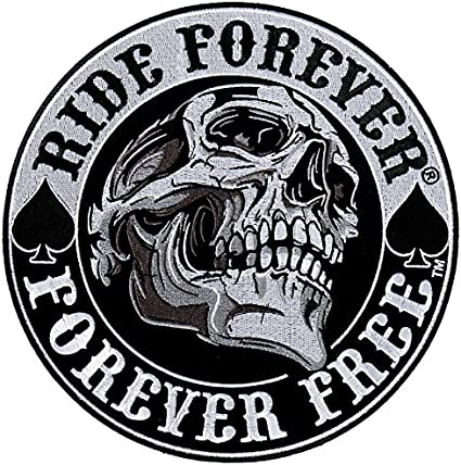 Patch escudo escudo Skull Ride Forever peque�o formato