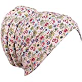 Samidy Women Girl Floral Embroidery Chemo Hat Beanie Turban Head Wrap Cap for Cancer