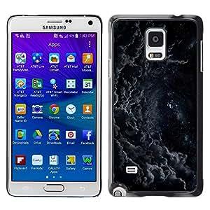 Caucho caso de Shell duro de la cubierta de accesorios de protección BY RAYDREAMMM - Samsung Galaxy Note 4 SM-N910 - Clouds Night Mysterious Flying