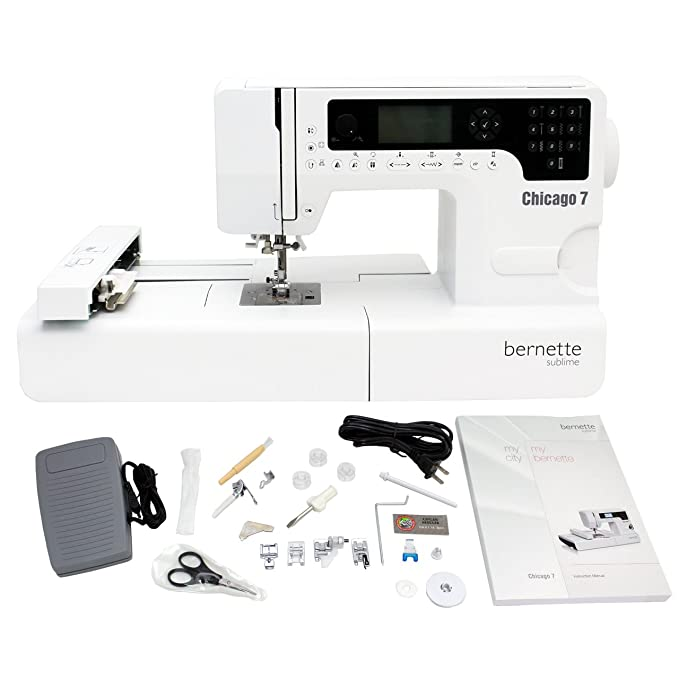 Amazon Bernette Chicago 40 Swiss Design Embroidery Machine Mesmerizing Complete Sewing Machine Chicago