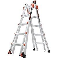 Little Giant Ladder Systems LG Escalera Multiuso con Capacidad de Carga de 136 kg, 22 foot with wheels