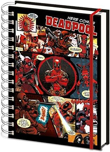Deadpool SR72146 - Cuaderno tamaño A5, diseño de cómics: Amazon.es: Oficina y papelería
