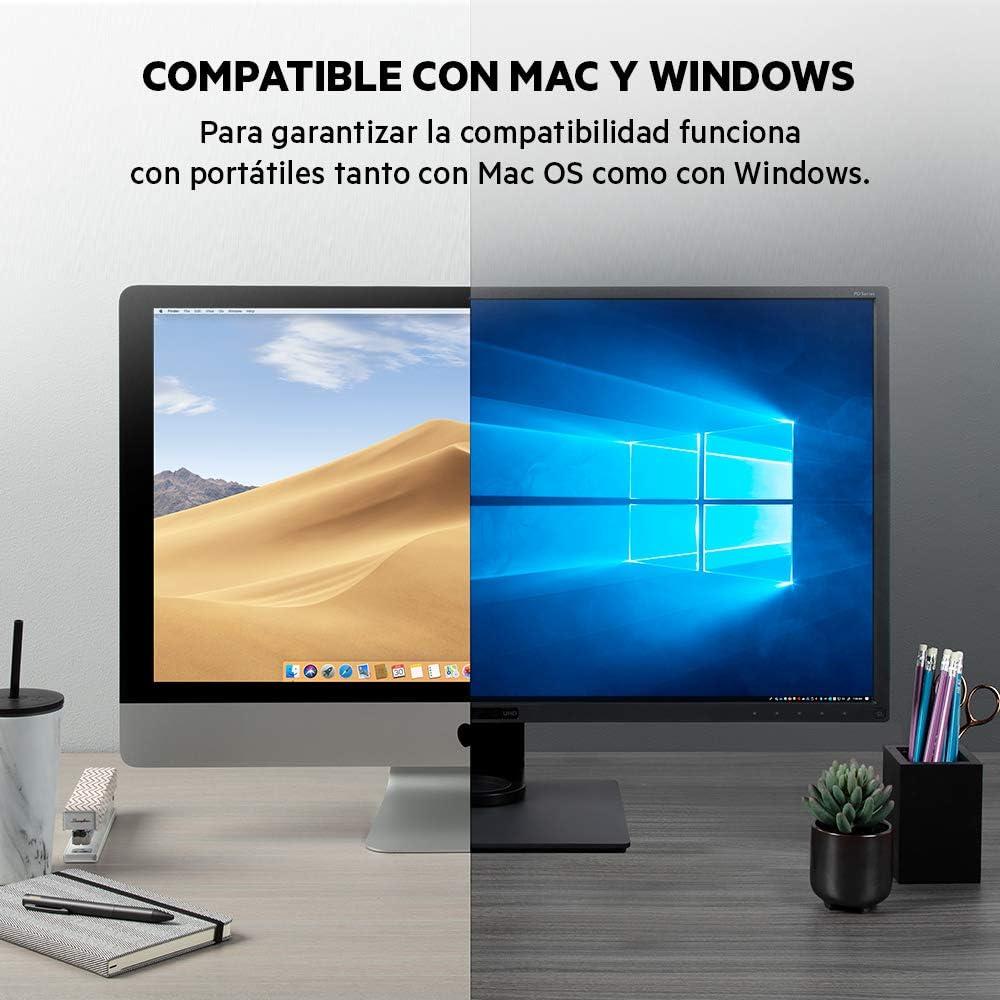 Belkin F4U110bt - Base Dock Thunderbolt 3 Core estándar con Cable (Conector Dock Thunderbolt para Mac y Windows, Dos Pantallas 4K a 60 Hz, transferencias de 40 Gbps, Carga de Salida de