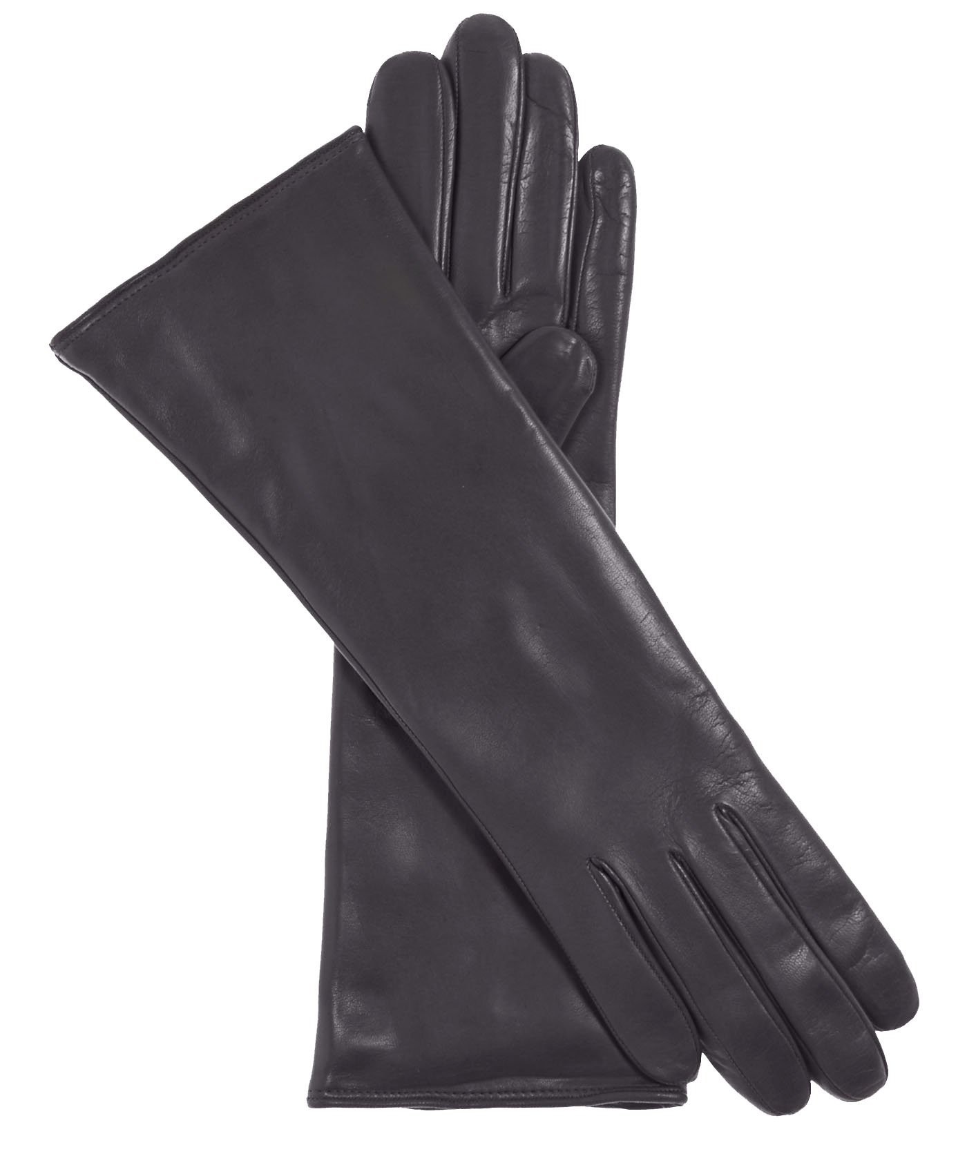 Fratelli Orsini Women's Italian ''4 Button Length'' Cashmere Lined Leather Gloves Size 8 1/2 Color Charcoal by Fratelli Orsini