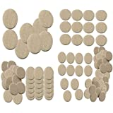 Nourish 100 Pcs Self Sticking Round Felt Pads Non Skid Floor Protector Furniture Pad Noise Insulation Pad