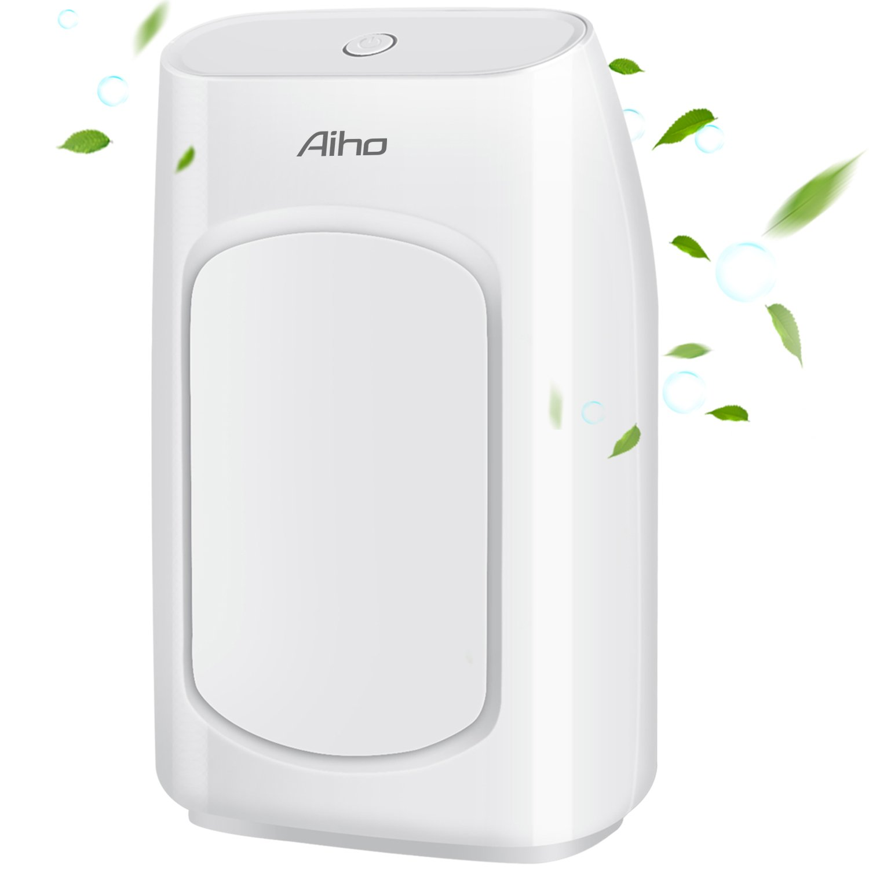 Aiho Mini Electric Dehumidifier, Protable 700ml Air Dehumidifier, Ultra Auto-Off Super Quiet Dehumidifier for Home, Closet, Bedroom, Bathroom, Office