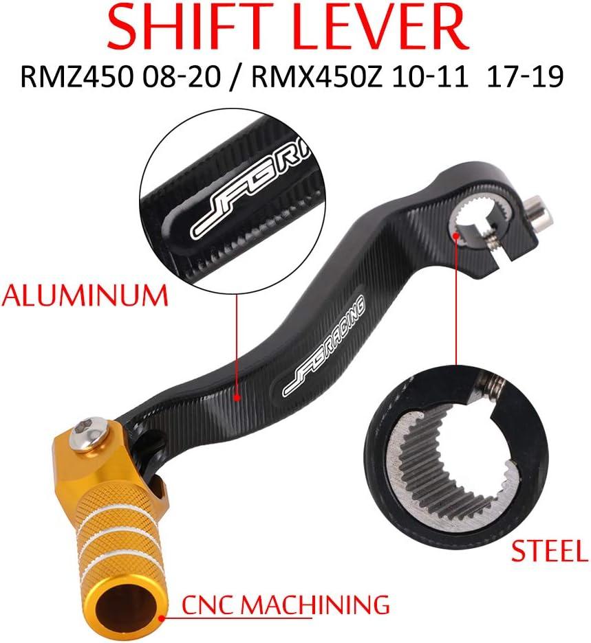 Motorrad CNC Klappschalthebel f/ür S.u.z.u.k.i RMZ450 RM-Z 450 2008-2020 RMX450Z 2010-2011 2017-2019 2018 Dirt Bike-Gold