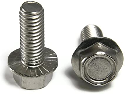 Stainless Steel 1.0x10mm,12mm,16mm,20mm Flanged Hexagon Screws with Plain Finish Bicycle MEIYYJ 60 Pcs M6,M8 Hex Head Screw Bolts Set Furniture Professional Machine Threaded Screw Kit for Wood