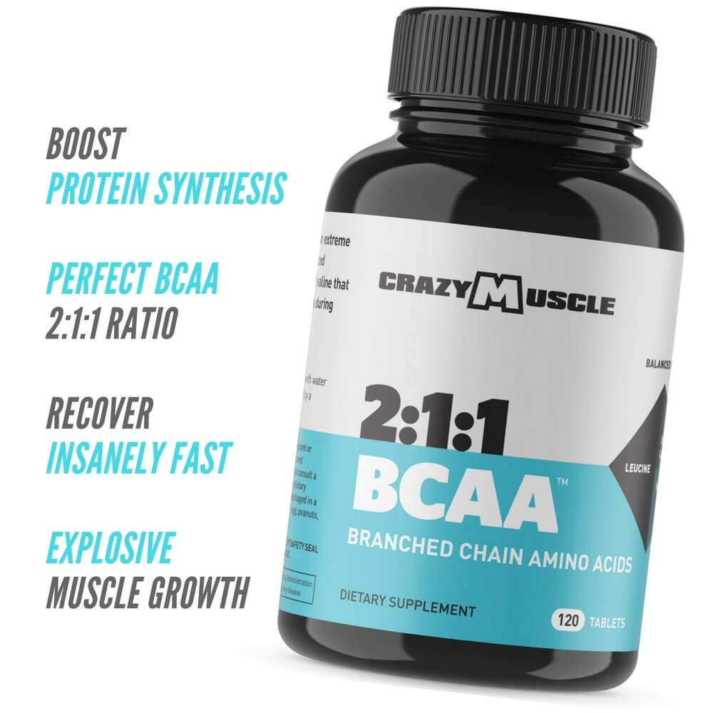3000mg BCAA Pills 2 Month Supply with The Optimum 2 1 1 Ratio of Branched Chain Amino Acids Supplements for Recovery and Muscle Growth – 1000mg BCAAs per Pill More Than BCAA Capsules – 240 Tablets