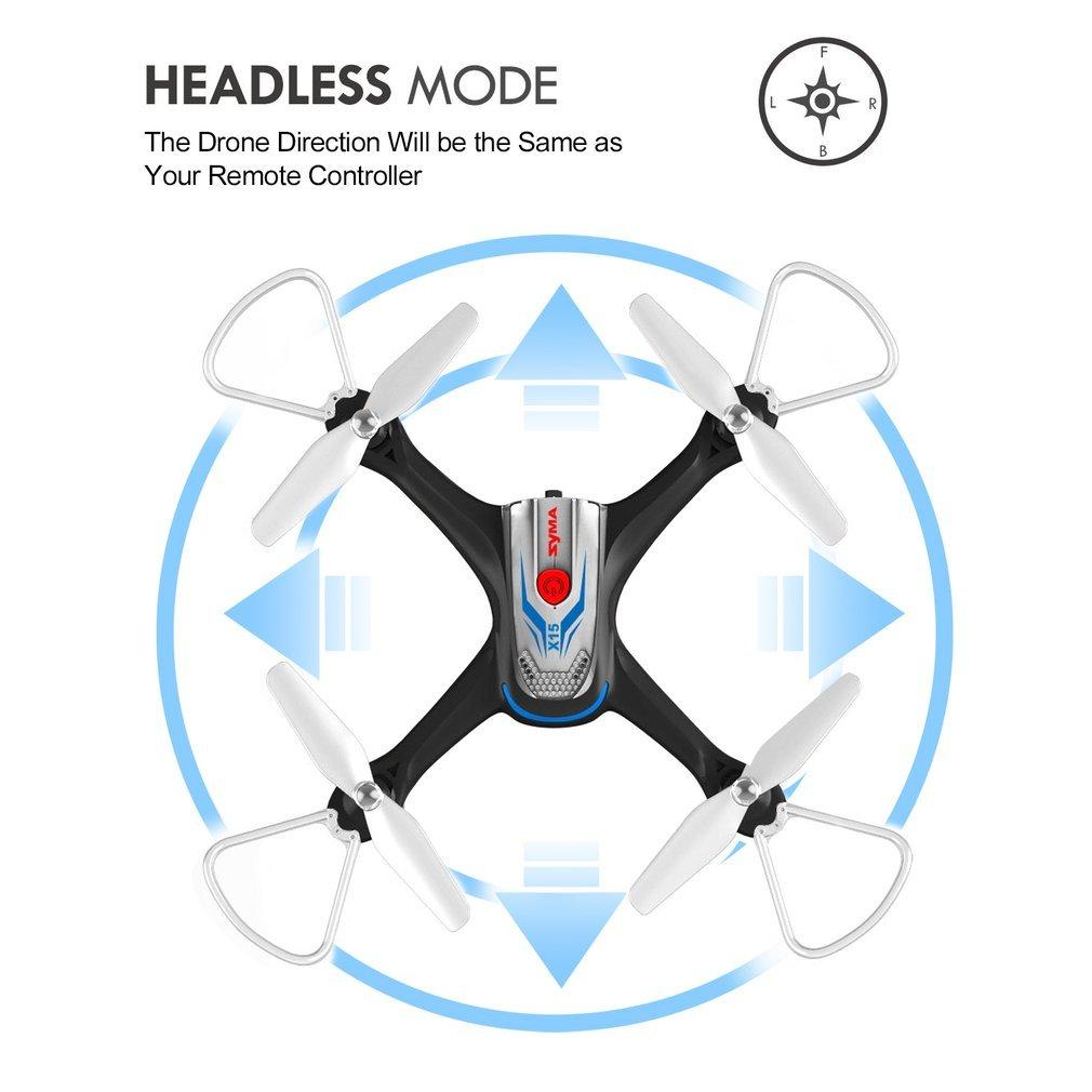 Syma X15 Drones para Niños 2.4GHz 4CH 6-Axis Cuadricópteros RC con ...