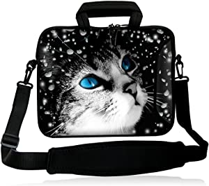 """iColor 13"""" Laptop Tablet Shoulder Bag 12.5"""" 13.3 inches Handle Sleeve Messenger Bag Computer PC Carrier Holder-Cat"""