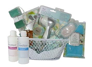 1d52dcef57a51 Image Unavailable. Image not available for. Color  Exfoliation Essentials  Spa Bath   Shower Gift Basket ...