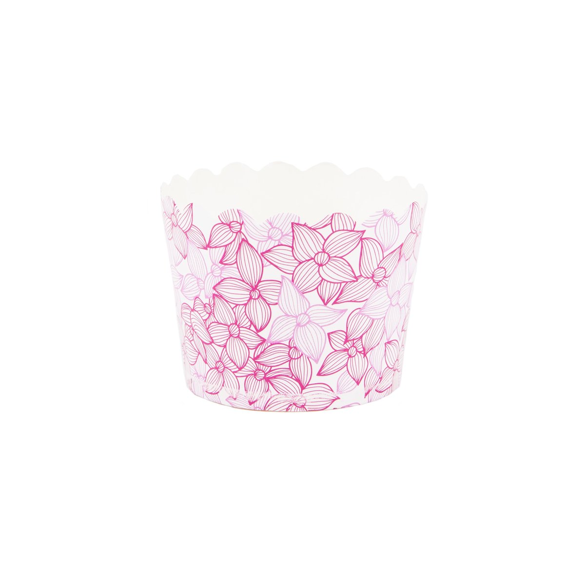 Simply Baked Small Paper Baking Cup, Pink Floral, 550 Pack, Disposable & Oven-Safe
