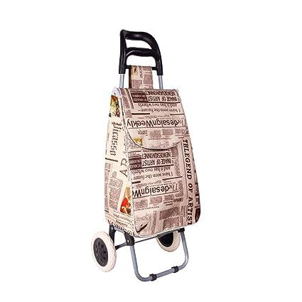 fe62c833912e Amazon.com: HJYSTC Shopping Cart Trolley, Portable Trolley Car Small ...