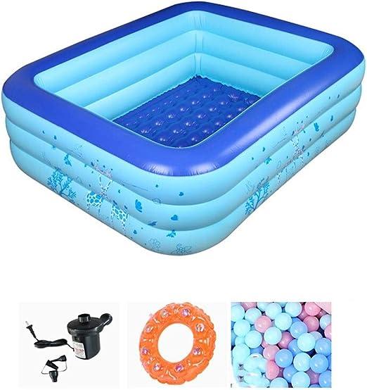 LYM & bañera Plegable Baño de natación Inflable Piscina para niños ...