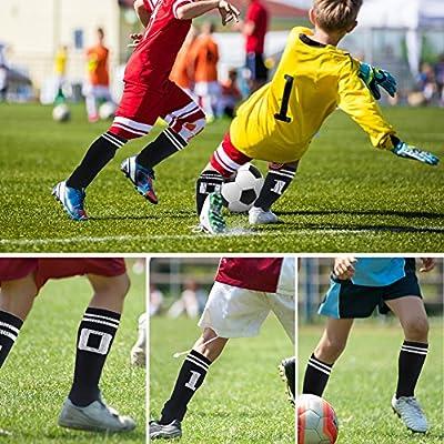 Number Socks, Colorfox Antibacterial Custom Teen Team Number Sports Mid Calf Crew Socks for Boys Girls 1 Pair Black
