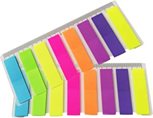 360PCS-400PCS Assorted Colors Page Markers AdhesiveIndex Tabs Flags Sticky Notes with 12cm Ruler for Organizing Marking Color Codind Pages Books Journal Planner Home School Office Supplies