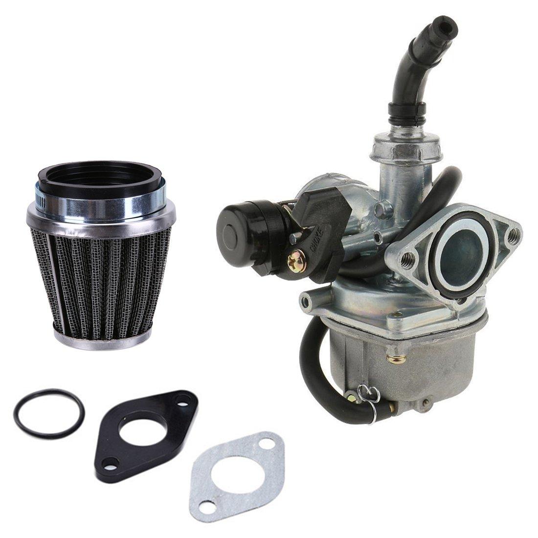 PZ19 19mm ATV Carburetor Carb with 35mm Air Filter Intake Gaskets for 50cc 70cc 80cc 90cc 110cc 125cc ATV Dirt Pit Bike Go Kart Pocket Bike Taotao Honda CRF AnTo
