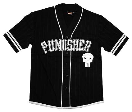 online store 4b4cd cd83d The Punisher 74 Castle Black Mens Baseball Jersey