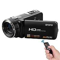 Andoer ORDRO HDV-Z8 1080p Full HD Digital caméra vidéo caméscope 16 × Zoom numérique avec Rotation numérique LCD Touch Screen Max. 24 Méga Pixels prend en charge de détection de visage