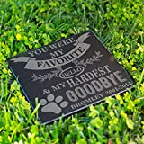 Personalized Dog Memorial Customized Dog Grave Marker Custom Headstone - DSG#3 - Aged Granite