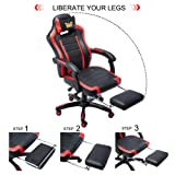 Racing Style Leather Gaming Chair Ergonomic Office