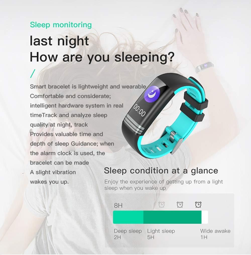 WTYCHS Aktivit/ätstracker Fitness-Armband Farbdisplay Wasserdicht Herzfrequenz Smart Blutdruck-Sauerstoffmessger/ät Uhr