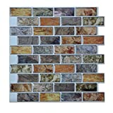 Art3d A17014P6 Peel and Stick backsplash Tile, A17014-12 x12, 5 Sq. Ft