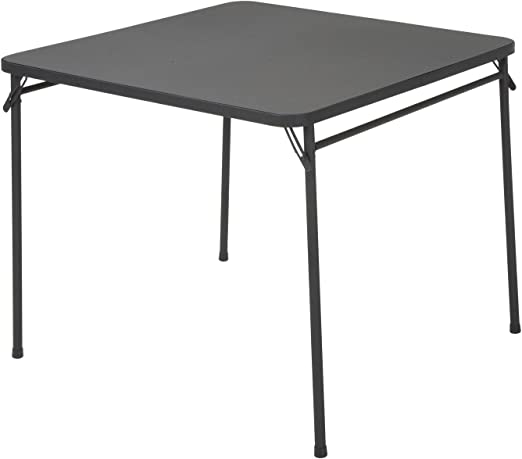 Cosco Dorel Industries Square Vinyl Top Folding Dining or Card Table 34-Inch Black