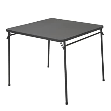 COSCO Products 34  Square Resin Top Folding Table, Black