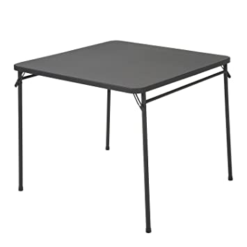 Cosco 34u0026quot; Resin Top Folding Table Black