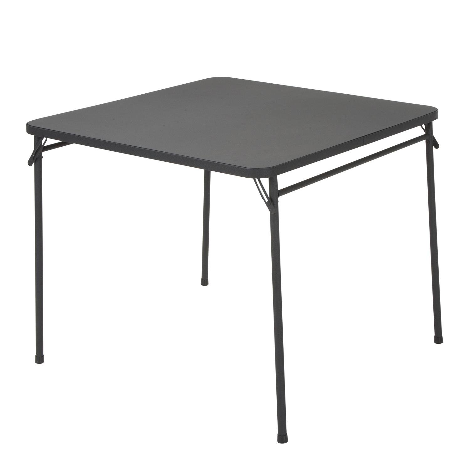Cosco Products 34'' Square Resin Top Folding Table, Black
