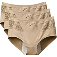 BOZEVON Women's Menstrual Period Panties - Leakproof High Waist Briefs Cotton Knickers Plus Size Multi Pack