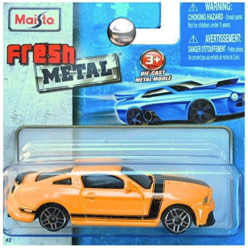 Maisto Fresh Metal Die-Cast Vehicles ~ Ford Mustang Boss 302 (Yellow / Black (Fresh Metal)