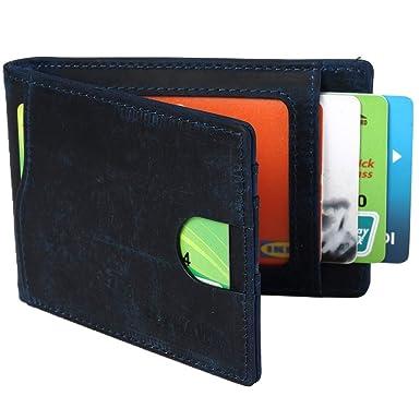 b29f32a7df6261 Front Pocket Minimalist Slim Leather Wallet RFID Blocking Travel Passport  Wallet