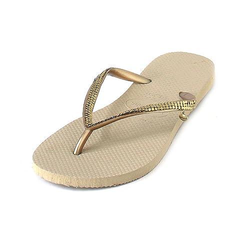 Havaianas - Zapatillas de casa de Caucho Mujer, Color Dorado, Talla 41/42 EU: Amazon.es: Zapatos y complementos