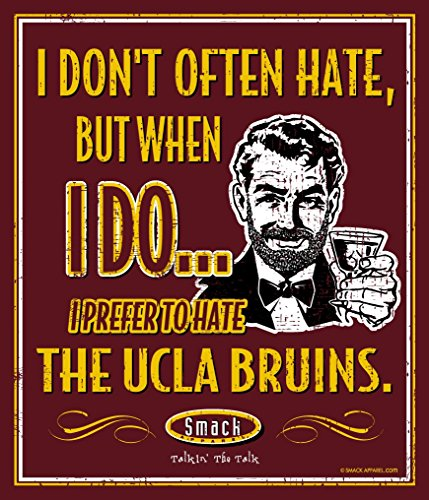 (Smack Apparel USC Football Fans. I Prefer to Hate The UCLA Bruins 12'' X 14'' Metal Man Cave Sign)