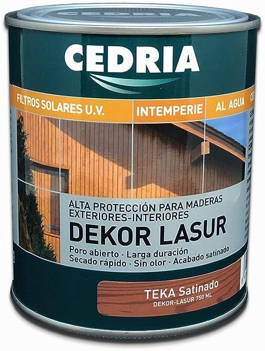 Lasur protector madera exterior al agua Cedria Dekor Lasur 750 ml (Teka)