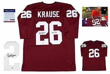 Paul Krause SIGNED Jersey - - Autographed w Photo - Burgundy - PSA ... 104a170a8