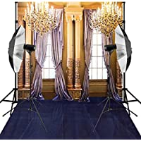 Kooer 10X12ft Indoor Wedding Photography Backdrops Golden Luxurious Living room Background
