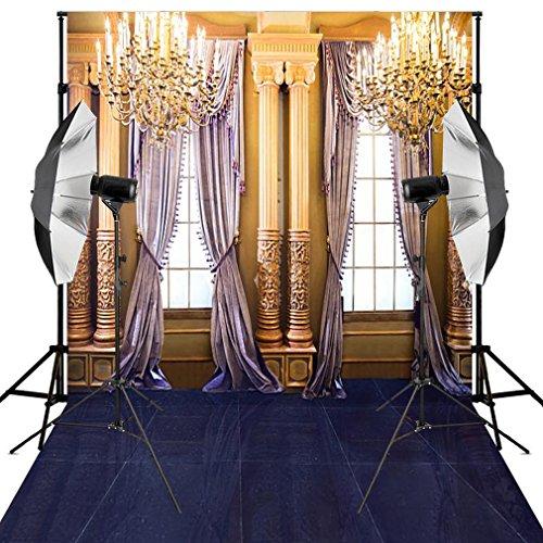 Kooer 10X12ft Indoor Wedding Photography Backdrops Golden Luxurious Living room Background]()