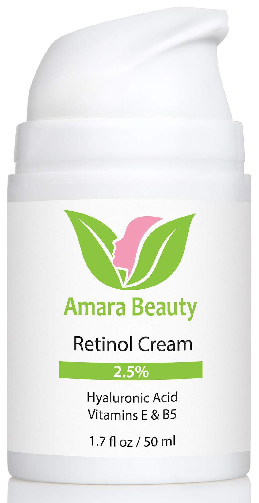 Retinol Cream for Face 2.5% with Hyaluronic Acid & Vitamins E & B5, 1.7 fl. oz. by Amara Beauty